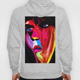 Colorful Pop-Art Face Hoody
