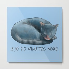 Sleepy Cat - 20 minutes more - Lazy Animals Metal Print