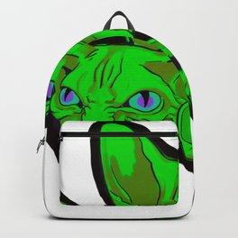 Green cat scream Backpack