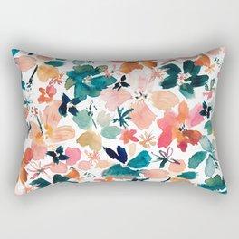 ISLAND TIME Tropical Floral Rectangular Pillow
