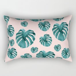 Tropical Monstera Dream #7 #tropical #pattern #decor #art #society6 Rectangular Pillow