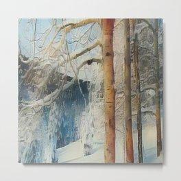 """ Snowy Morn "" Metal Print"