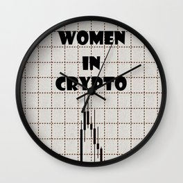 Women in Crypto Wall Clock