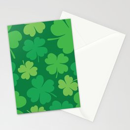 Lucky 4 Leaf Clover Pattern Stationery Cards