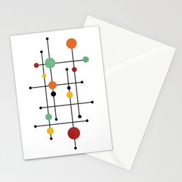 Mid Century Modern 1-4 Stationery Cards