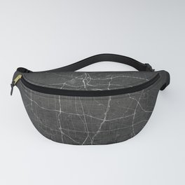 Silver Los Angeles City Map Fanny Pack