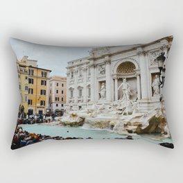 Trevi Fountain | Italian pastel colored houses Rectangular Pillow