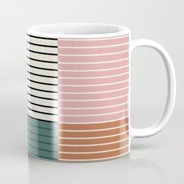 Color Block Line Abstract V Coffee Mug