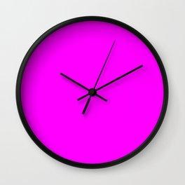 RGB Magenta lavender lilac mauve periwinkle plum violet color Wall Clock