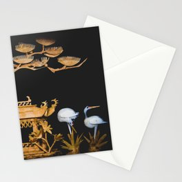 Tranquil Chinese Pagoda Nature Scene Stationery Cards