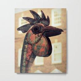 Reddy Rooster Sculpture Metal Print