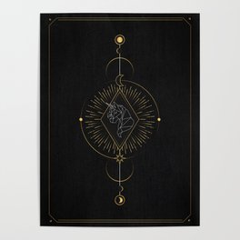 Tarot geometric #4: Unicorn Poster