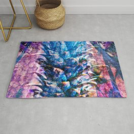 Stand Tall, Blue Pineapple Rug
