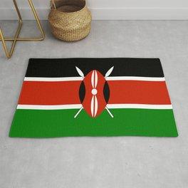 Kenyan flag of Kenya Rug