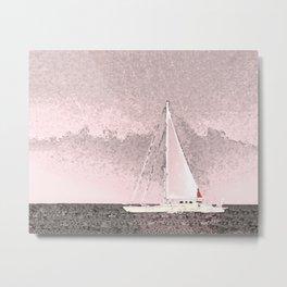 """Sailboat #8"" Art of the Sea by Murray Bolesta Metal Print"