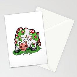 MOOSHROOM Cow with Mushrooms fly agaric Cartoon Stationery Cards