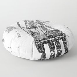 Snow Lift // Ski Chair Lift Colorado Mountains Black and White Snowboarding Vibes Photography Floor Pillow