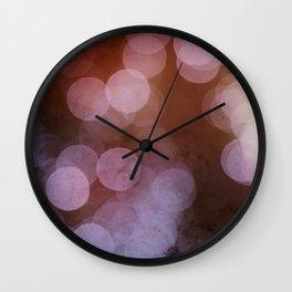 Inner Diva BOKEH Dot Pattern Wall Clock
