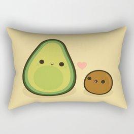 Cute avocado and stone Rectangular Pillow