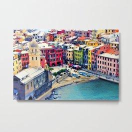 Italy Liguria Cinque Terre Seaside Colorful Houses Metal Print