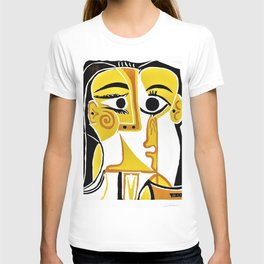Pablo Picasso - Stylized Portrait of Jacqueline - Digital Remastered Edition T-shirt