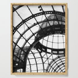 B&W Domed Roof Serving Tray
