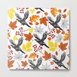 Fall Garden Metal Print