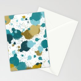 Pretty Paint Splatters Stationery Cards
