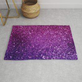 Pretty Pink & Purple Faux Glitter Gradient Rug
