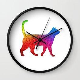 Rainbow kity cat Wall Clock