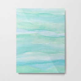 Ocean Layers - Blue Green Watercolor Metal Print