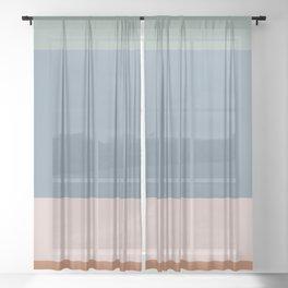 Contemporary Color Block XI Sheer Curtain