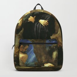 Antonio da Correggio - Martyrdom of Four Saints Backpack