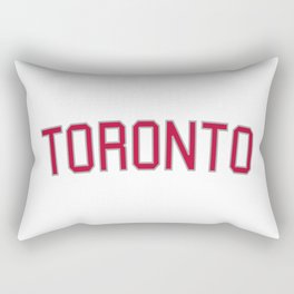 Toronto Sports College Font Rectangular Pillow