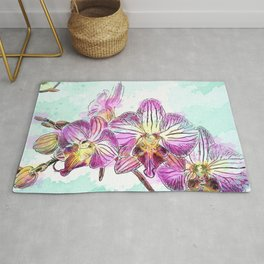 Orchids 02 Rug