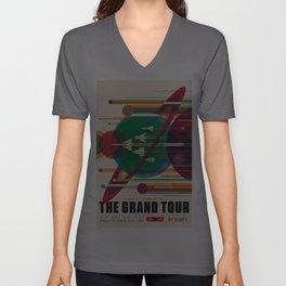 NASA Retro Space Travel Poster The Grand Tour Unisex V-Ausschnitt