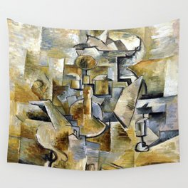 Georges Braque Violin and Candlestick Wall Tapestry