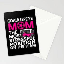 Goalkeeper's Mom Mothers Day Sport Lover Soccer Stationery Cards