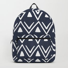 Etched Zig Zag Pattern in Navy Blue Backpack