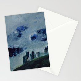 Mists in the Blue Mountains, Twilight landscape by Mikalojus Konstantinas Ciurlionis Stationery Cards