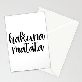 Hakuna Matata, Motivational Quote, Funny Art, Motivational Print, Inspirational Art Stationery Cards