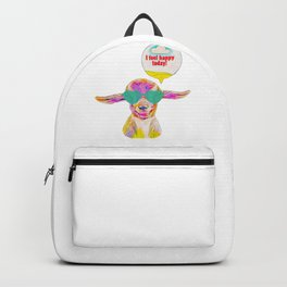 I Feel Happy Today! Cute Baby Goat Face Backpack