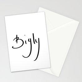 Bigly typography Stationery Cards