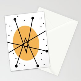 Retro Atomic Age Nuclear Motif — Mid Century Modern Stationery Cards