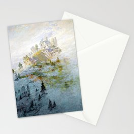 Caspar David Friedrich Morning Mist in the Mountains Stationery Cards