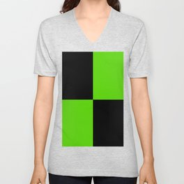 Big mosaic green black Unisex V-Neck