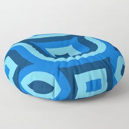 Blue Truchet Pattern Floor Pillow