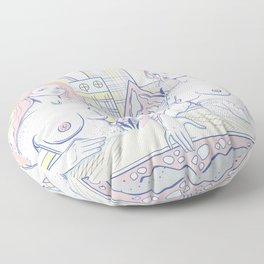 Girls in the City Floor Pillow