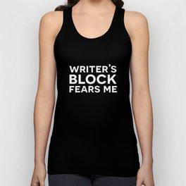 Writer's Block Fears Me Unisex Tank Top