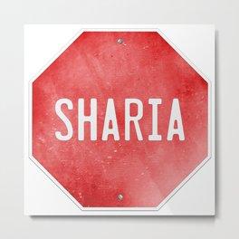 Stop Sharia Metal Print